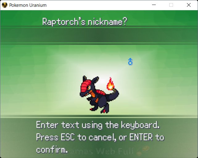 Pokémon Uranium raptorch