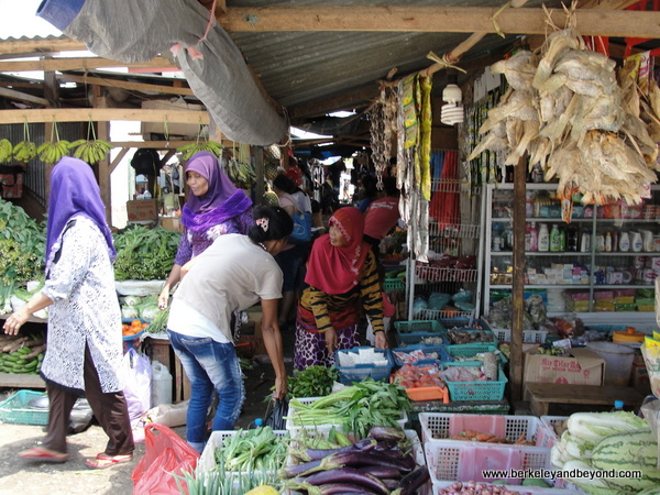 town market in Labuan Bajo on Flores Island in Indonesia