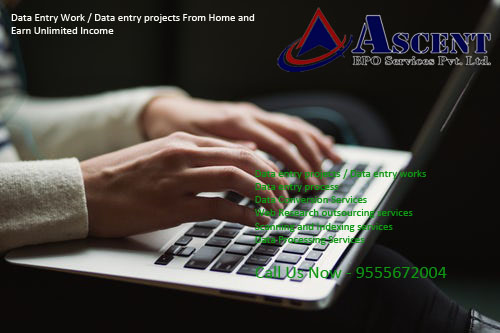 Data entry projects / Data entry works