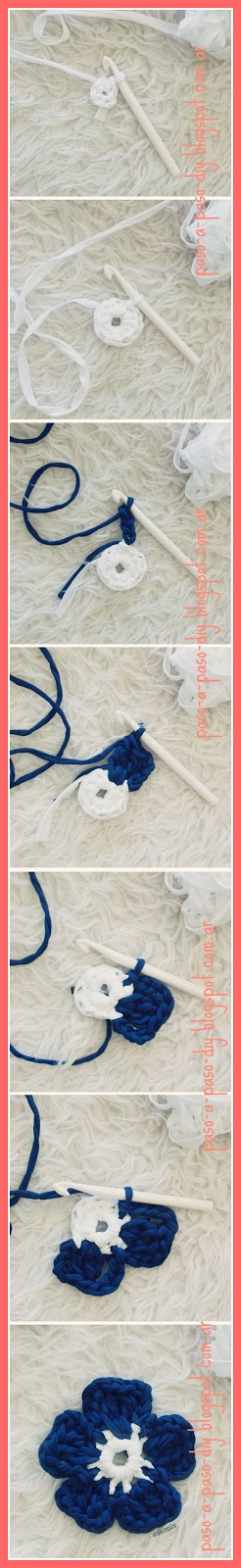 Alfombra tejida con borde de flores - DIY | Paso a Paso