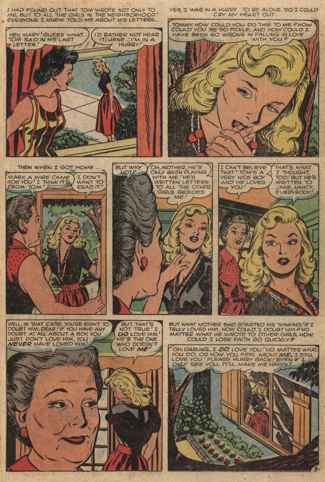 Love Romances (1949) issue 66 - Page 23