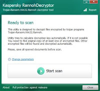Download RannohDecryptor, to recover files blocked by a virus