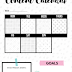 Free Printable Content Calendar for Bloggers
