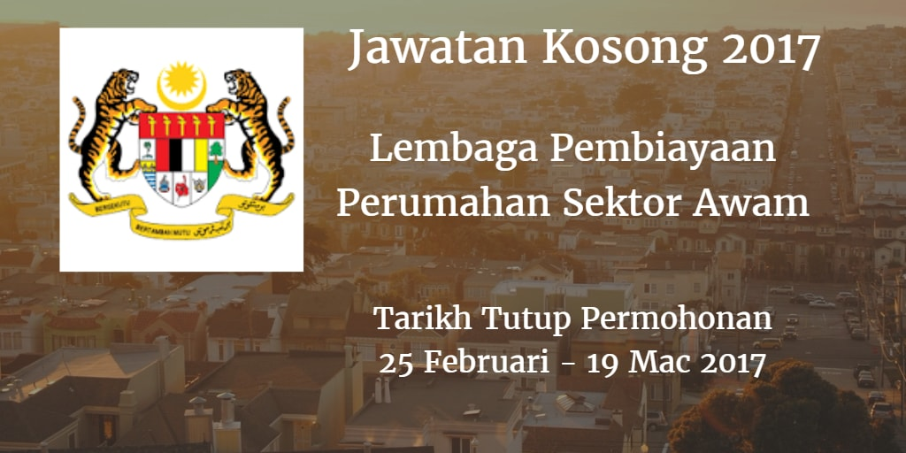Jawatan Kosong LPPSA 25 Februari - 19 Mac 2017