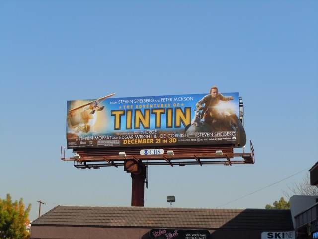 Tintin motorcycle billboard