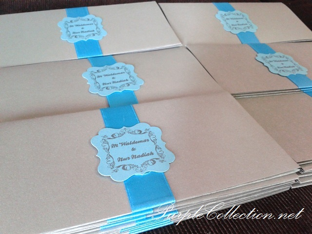 Light Blue, Boarding Pass Wedding Card, Travel Wedding Card, flourish tag, pearl silver card, art card, malay wedding card, western wedding card, Dewan Baitulmal, Kuching