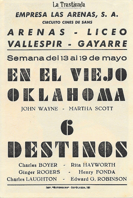 En el Viejo Oklahoma - Programa de Cine - John Wayne - Martha Scott