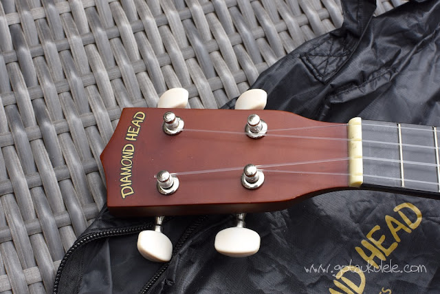 Diamond Head DU-150 Soprano Ukulele headstock