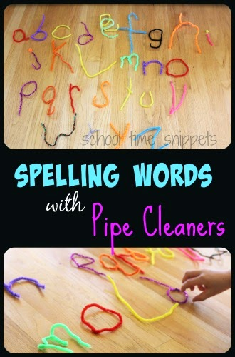 pipe cleaner words spelling activity