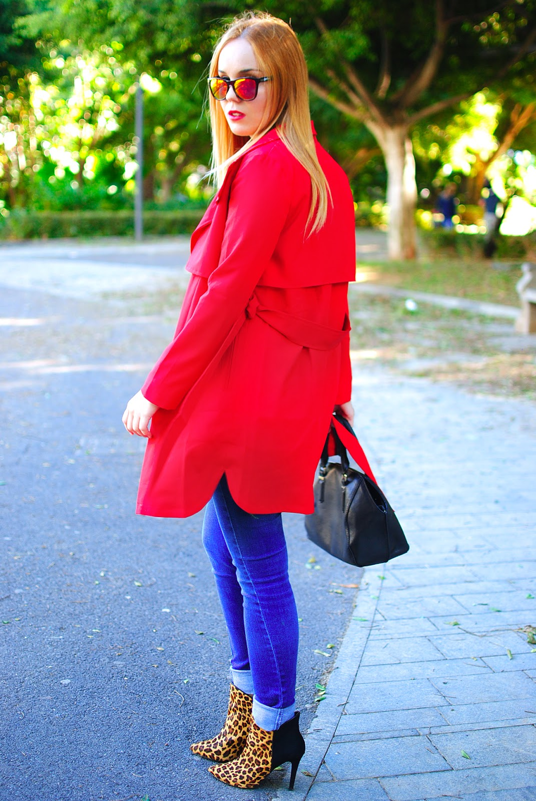 nery hdez, trench, red coat, chicwish, kameleonz,beste shop,