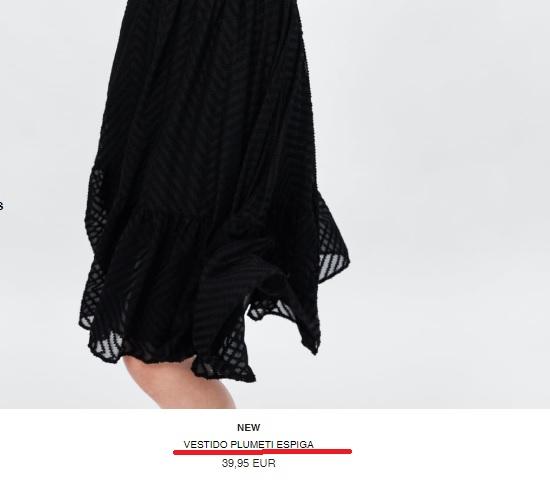 falda de Zara de un color no descrito
