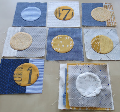 Quilty 365 project - First circles of the third quilt