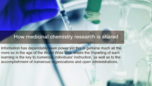 How medicinal chemistry research is shared