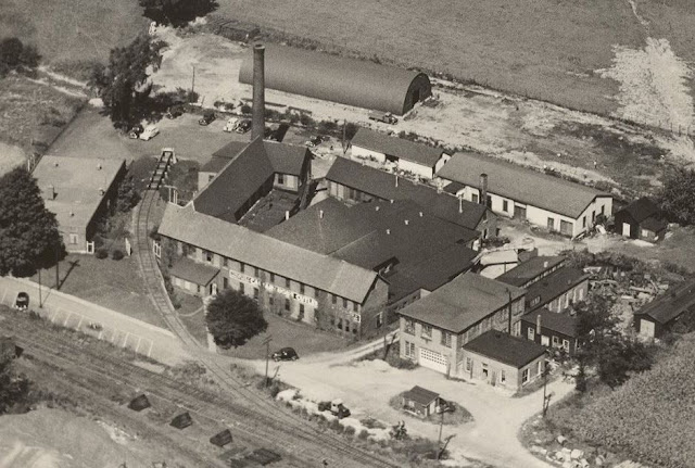 air view of Cattaraugus Cutlery factory complex in about 1940