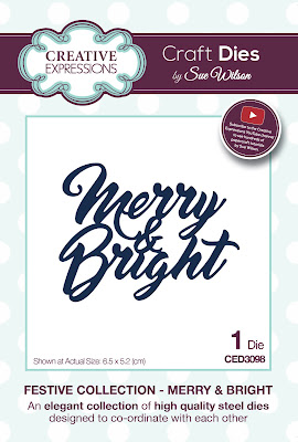 Festive Collection Merry and Bright Die - CED3098