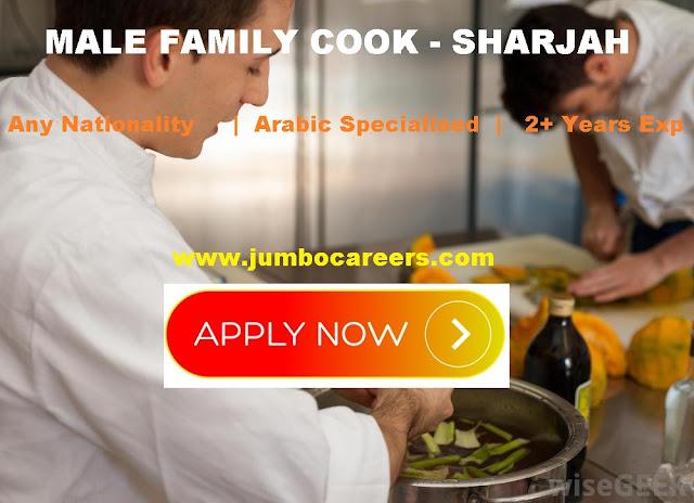 Male cook Sharjah Salary. Arabic cook job vacancies- UAE
