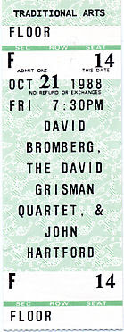 David Bromberg, David Grisman, John Hartford, October 21, 1988