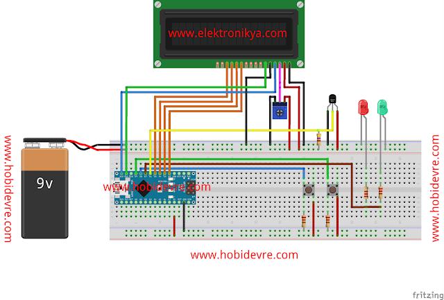 Arduino ile termometre DS18B20