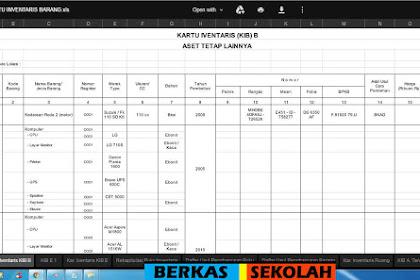 Format Laporan Inventaris Barang Format Excel