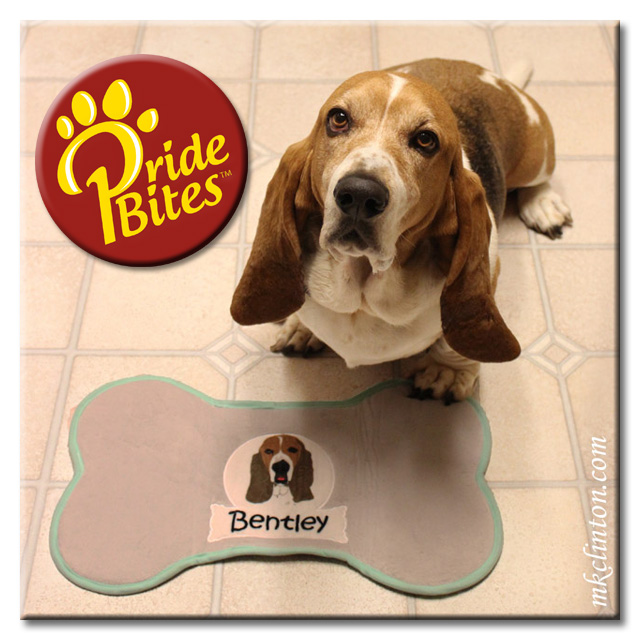 Basset Hound with PrideBites profile place mat