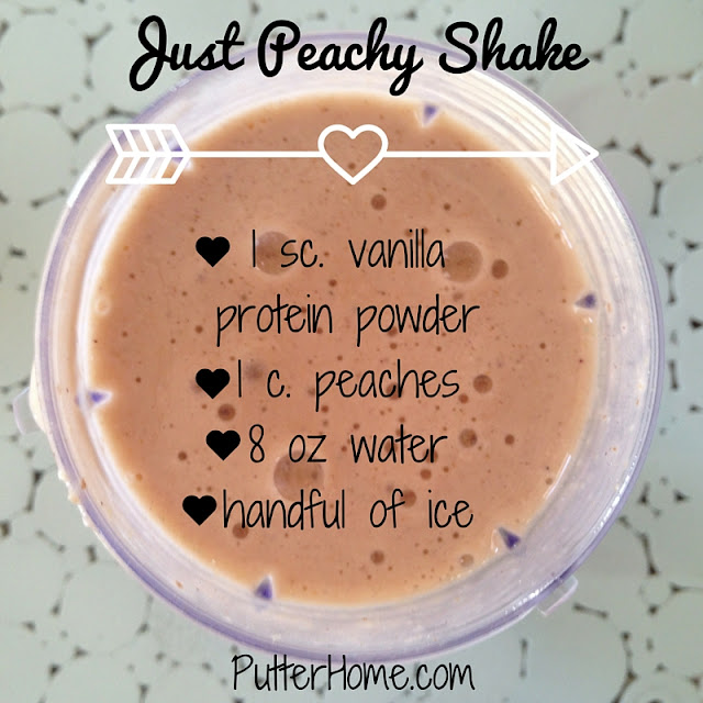 Just Peachy Superfood Shake | Putter Home