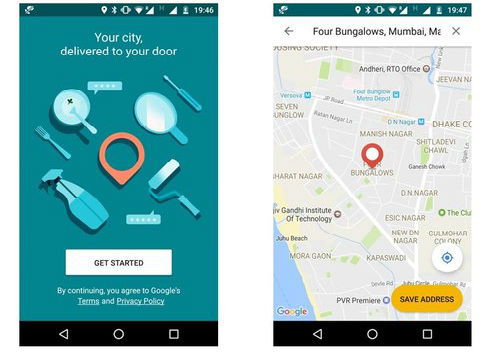 भारत में खाने-पीने की चीजों की करेगा होम डिलीवरी Google लाया Areo एप
