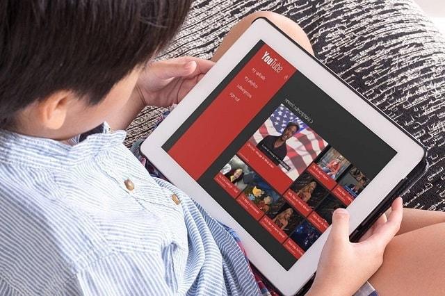 طرق جعل تطبيق يوتيوب بيئة آمنة للأطفال