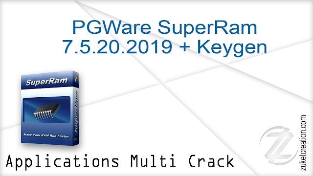 PGWare SuperRam 7.5.20.2019 + Keygen  |  6 MB