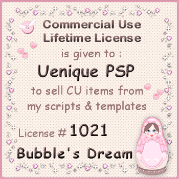 Bubble's Dreams CU Lifetime License