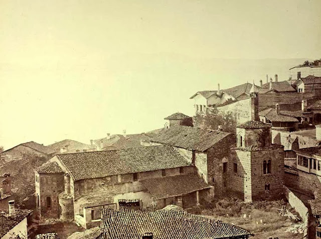 Ohrid Sophia mosque seen from the eastern side End of September 1863 - Macedonia in 1863 - Photo Collection of Josef Székely