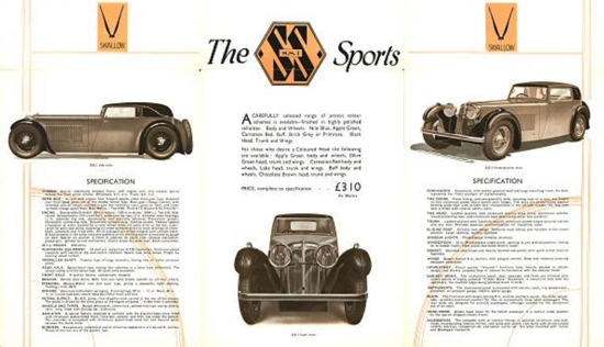 S.S. 1 car (Jaguar 1931) - brochure