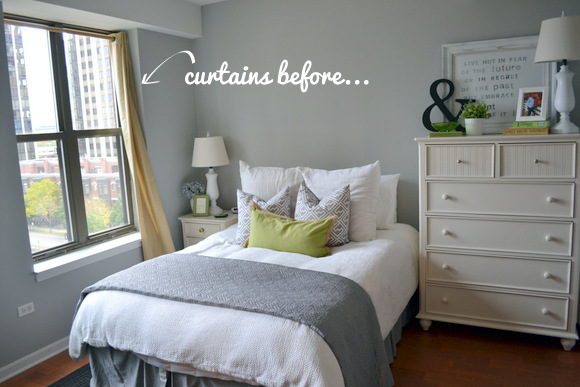 Master Bedroom Curtains Before. Our Bedroom Window Treatments   DIY Playbook