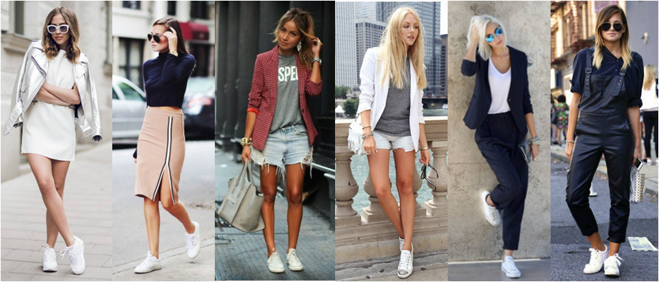 Resultado de imagem para midi pencil skirt with sneakers