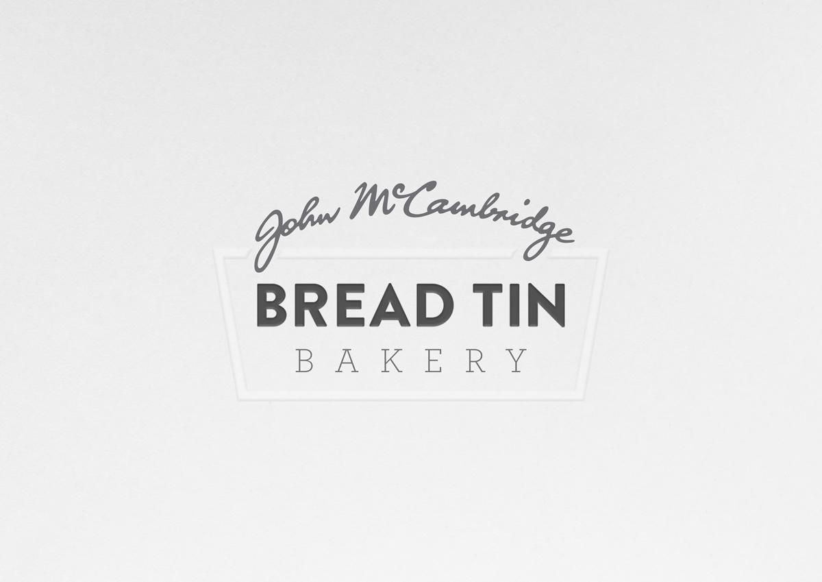 John McCambridge 'Bread Tin Bakery' on Packaging of the