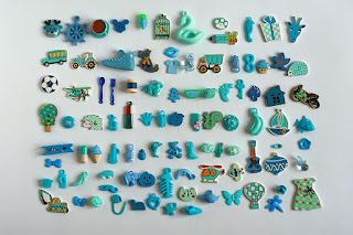 blue TomToy Colorful I spy trinkets, Rainbow miniatures, Rainbow I spy bag filler, Colors I spy bottle, Color sorting activities, Color matching games