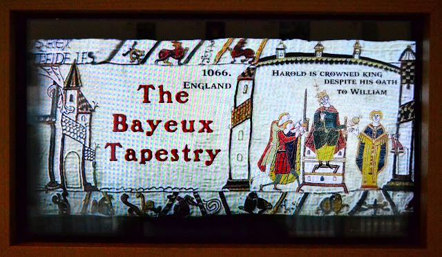 If the journey up and down the stairs seems daunting, seek out this animated version of the Bayeux Tapestry in the Living Room.