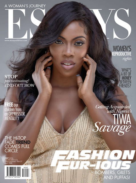 Tiwa Savage is on the front of Essays of Africa magazine's July 2016 issue