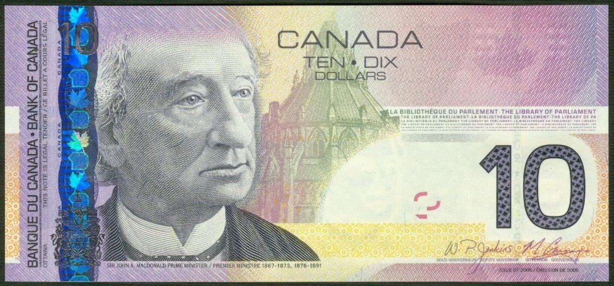 Canada 10 Dollar Bill 2005|World Banknotes & Coins ...