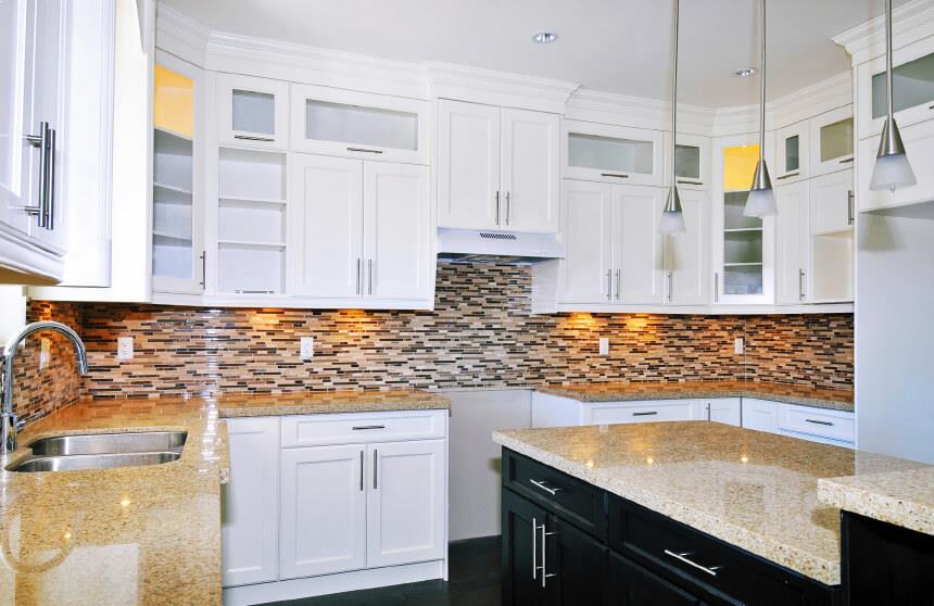 Kitchen Tile Backsplash Ideas With White Cabinets Best Rh Xstrahl Blo Com Updated