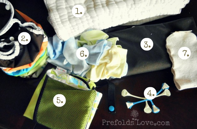 toddler prefold cloth diaper stash