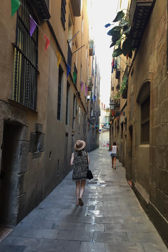 Barcelona Hello Freckles August Summer Travel Blogger City Break Spain Gothic Quarter Streets