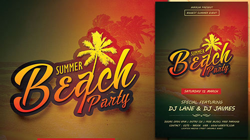 Create a Summer Beach Party Flyer In Photoshop