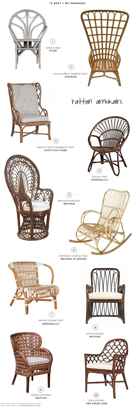 10 BEST: Rattan armchairs | My Paradissi