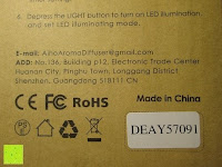 Sicherheit: Aiho 50ml USB Auto Aroma Diffuser Mini AD-P3 Aromatherapie Ätherische Öl Ultraschall Luftbefeuchter Humidifier
