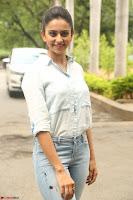Rakul Preet Singh in Jeans and White Shirt At Jaya Janaki Nayaka le Logo Launch ~  Exclusive 025.JPG