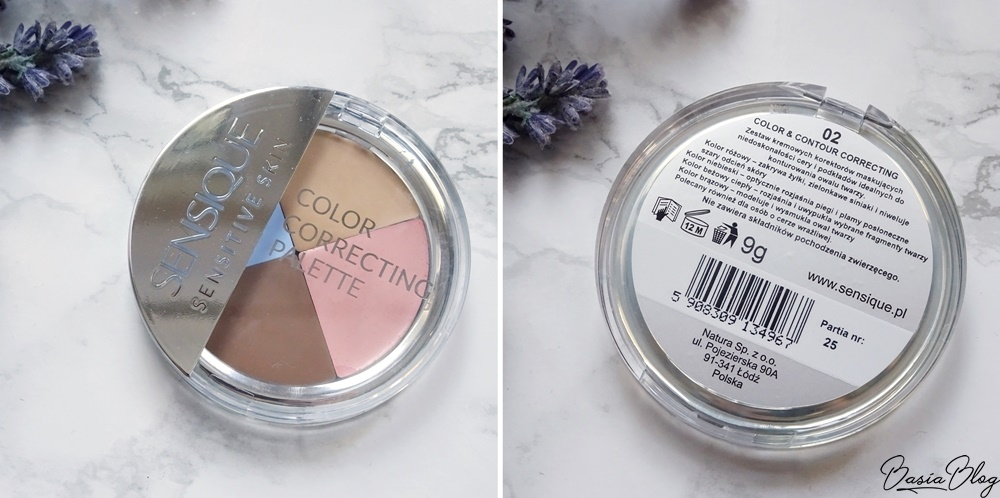 paleta kolorowych korektorów w kremie Sensique Sensique Sensitive Skin Color Correcting Palette