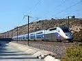 Un TGV, sigle de train à grande vitesse