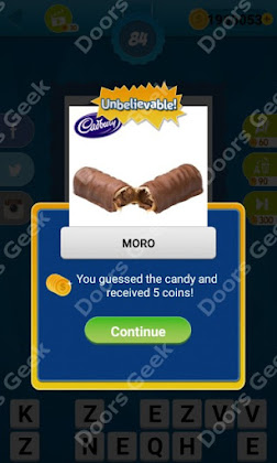 Answers, Cheats, Solutions for Guess the Candy Level 84 for android and iphone