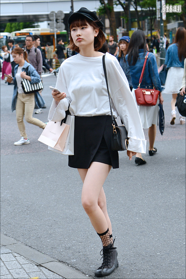 Street beat: Tokyo fashion beauty skirt shorts elegant Fan! (Photos)