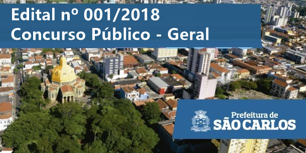 Concurso Prefeitura de São Carlos (SP) Saiu edital com 16 vagas Geral